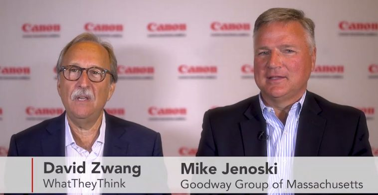 Goodway Group of Massachusetts' CEO Mike Jenoski discusses the adoption of production inkjet print technology at premier industry event